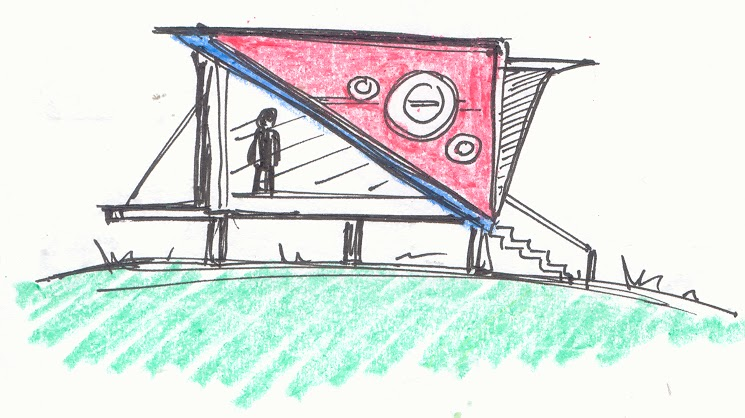 Tiny House Cabin Small Shack Sketch