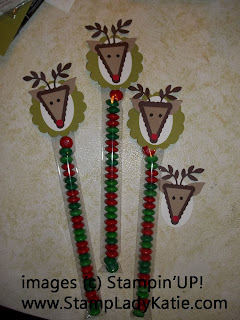 Reindeer Punch Art Bag Topper with Stampin'UP! punches and Long Cellophane Bags