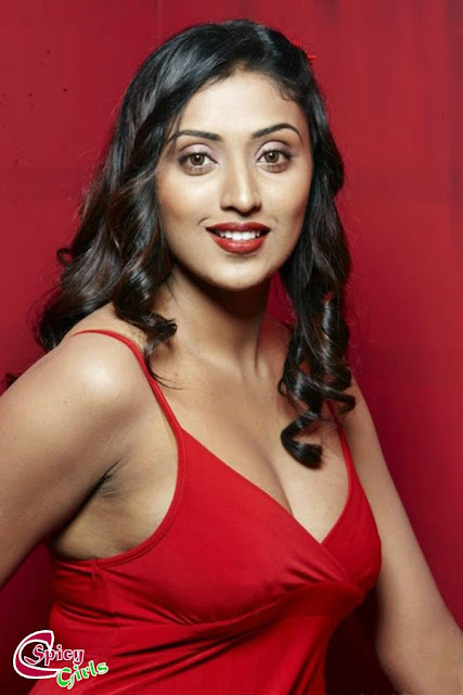 South Hot And Sey Megha Nair In Spicy Red Dress Latest Shoot