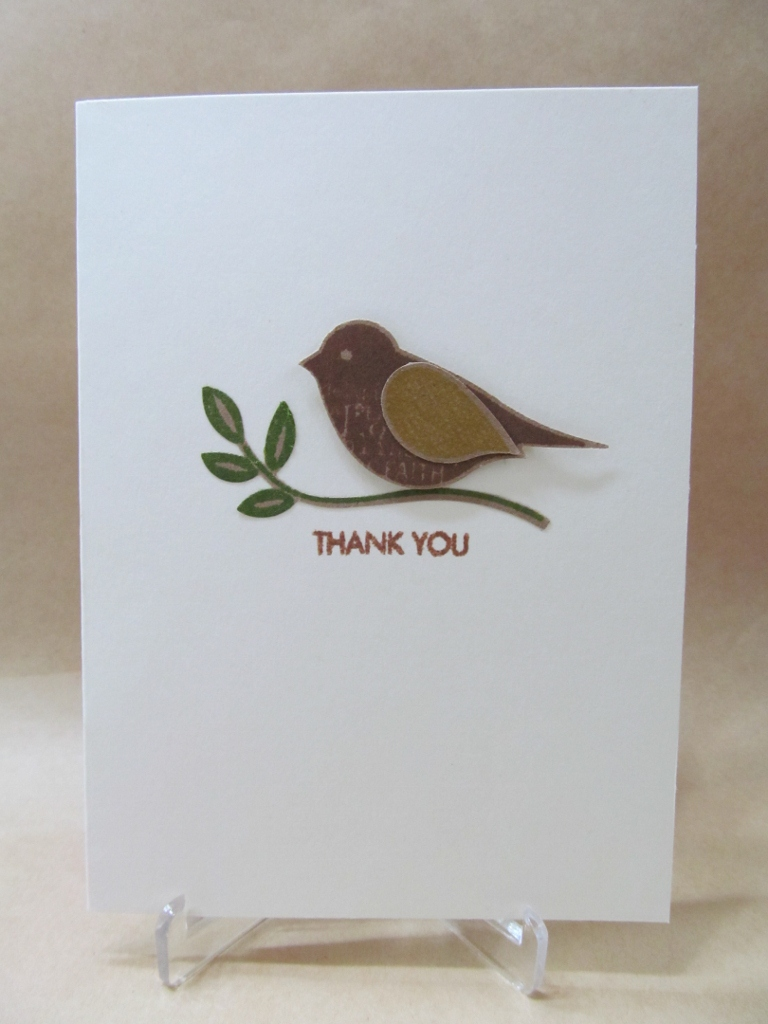 Savvy Handmade Cards Punched Bird Thank You Card