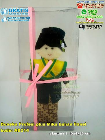 Boneka Profesi Plus Mika Bahan Flanel