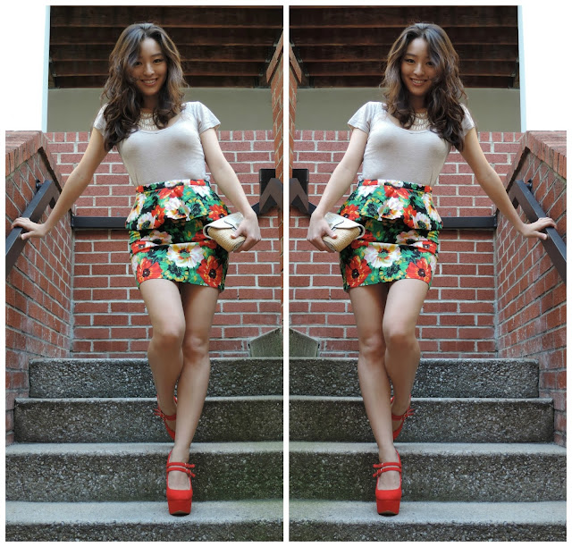 how to wear floral peplum