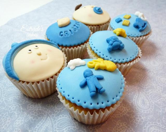 cupcakes para bebe con fondant - 4