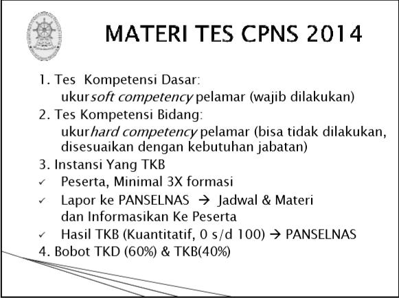 Materi tes CPNS 2014