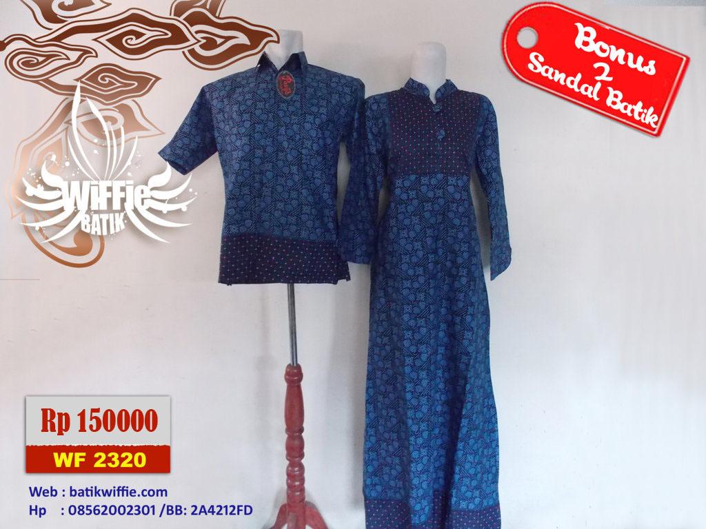 Gamis Batik Pasangan Biru Griya Couple Jual Baju