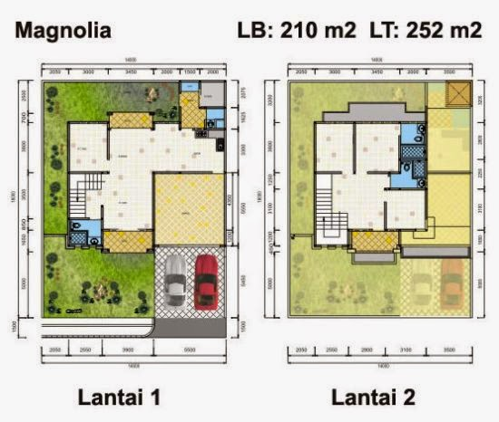 Contoh Sketsa Rumah Minimalis Sederhana 2 Lantai