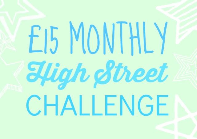 £15 high street challenge July