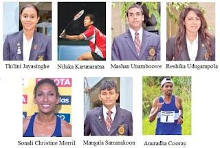 Thilini Jayasinghe,Niluka Karunarathna,Heshan Unamboowe,Mangala Samakoon,Men's 10m Air Rifel Shooting,Reshika Udugampola,Christine Sonali Merrill,Anuradha Cooray,Men's Marathon (Final)