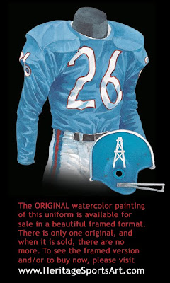 Houston Oilers 1960 uniform - Tennessee Titans 1960 uniform