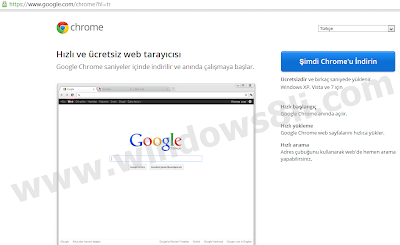 Windows 8 Chrome Kurulum