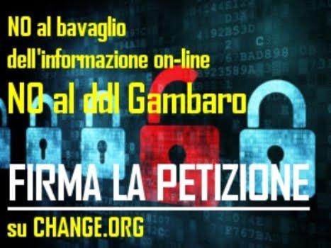 <strong>NO al bavaglio dell&#39;informazione on-line ! NO al DDL gambaro !</strong>