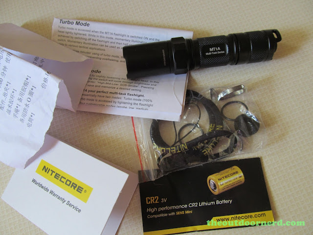 Nitecore MT1A AA Flashlight: Removed From Package