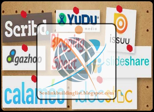 Top High PR Document Sharing Sites List