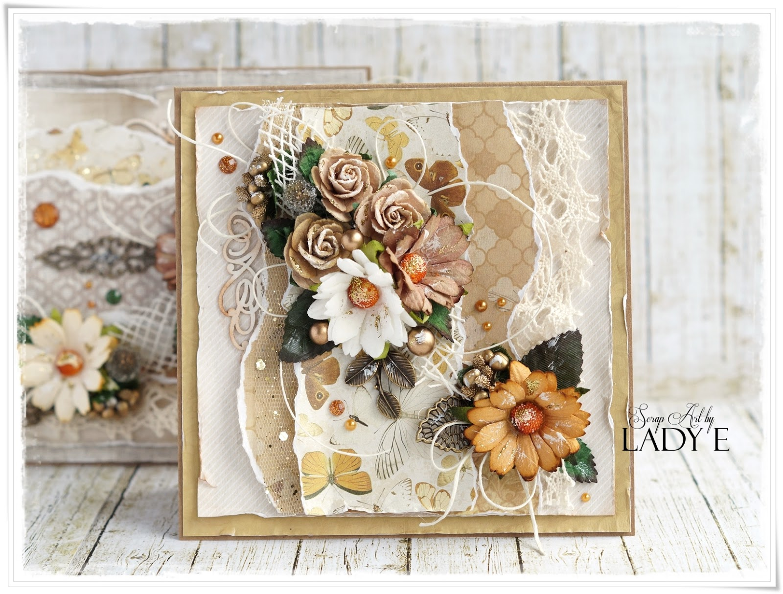 Wild Orchid Crafts 2 Earth Tone Cards With Metal