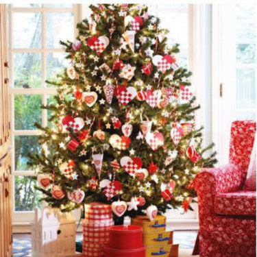 Real christmas tree decorating ideas - Gallery For Gt Colorful Christmas Tree Decorating Ideas 2012