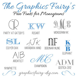 Free Fonts for Monograms