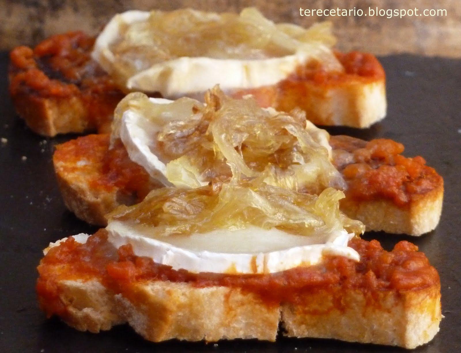 Terecetario tosta de sobrasada rulo de cabra y cebolla - Queso de cabra y colesterol ...