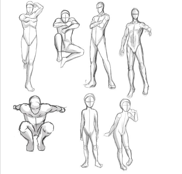 Caroline Haley Action Posesanatomy Study With Figure Drawing