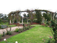 the middle of the rose garden Montevideo Uruguay