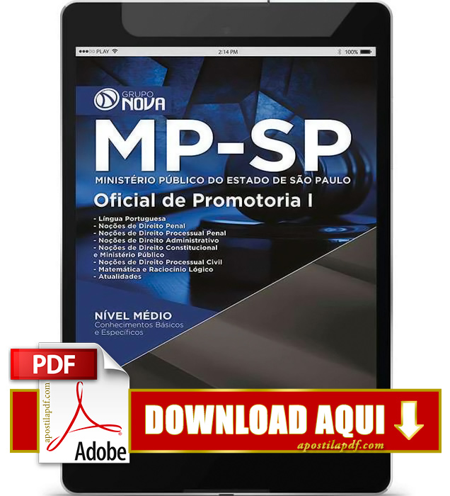 Apostila MP SP 2015 PDF Download Oficial de Promotoria