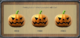 Three pumpkins for Dead or Alive Halloween game 2013