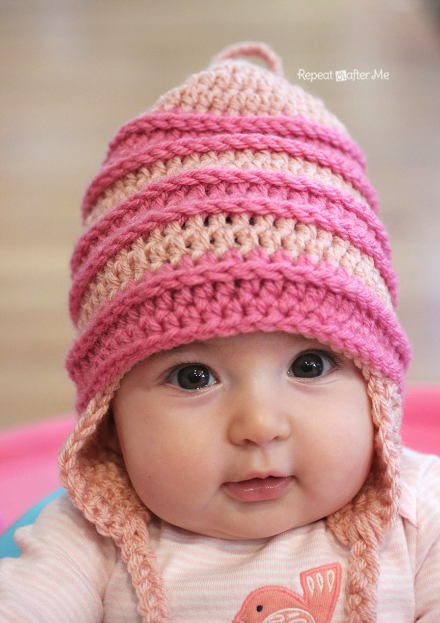 Crochet Me Free Patterns : Worsted weight yarn. I used Lion Brand Vannas Choice in Pink and ...