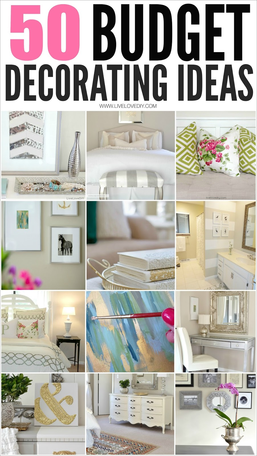 Home Decorating Ideas 2014 livelovediy: 50 budget decorating tips you should know!