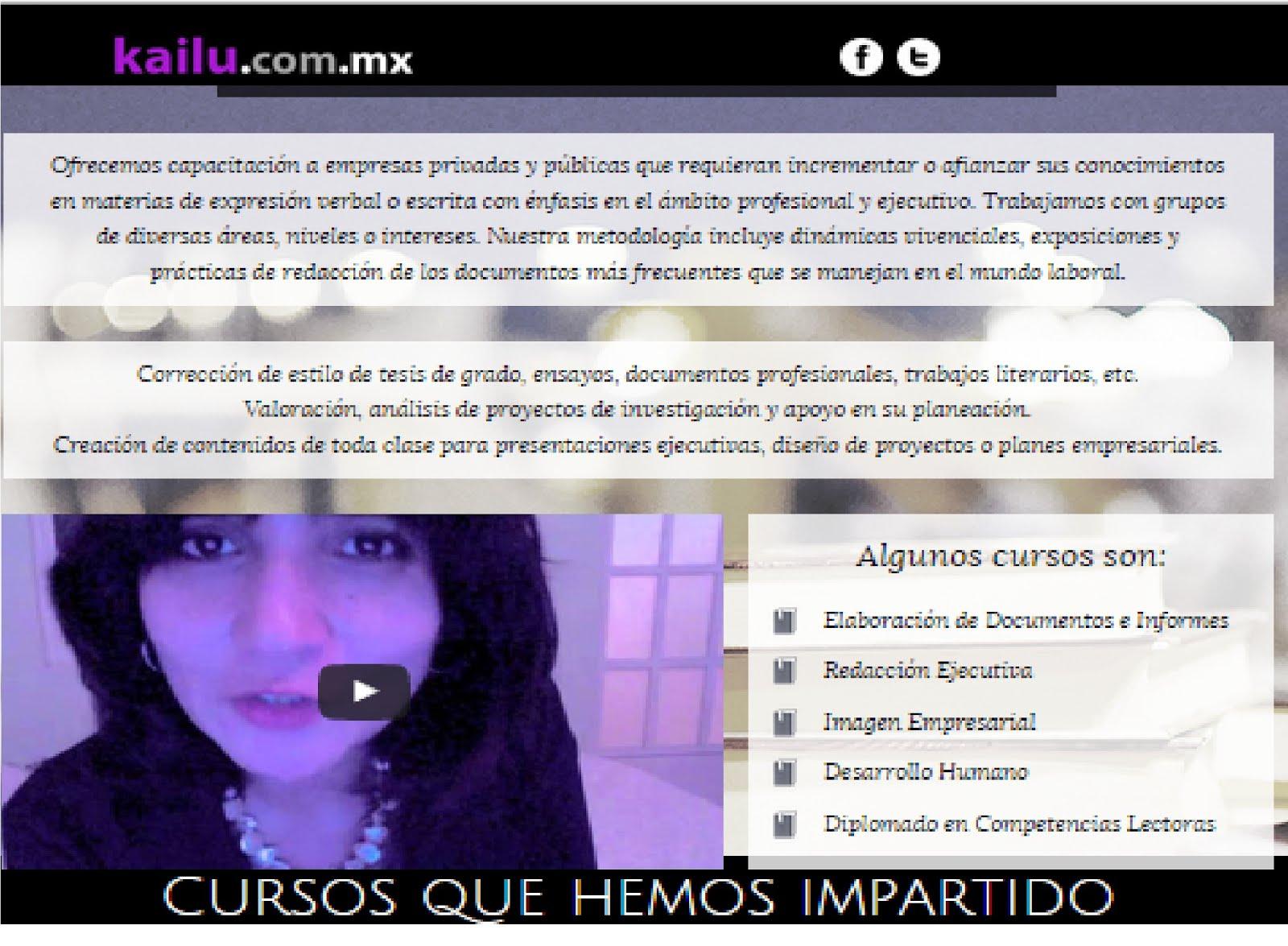 kailu.com.mx ASESORAMOS EMPRESAS Y ESTUDIANTES
