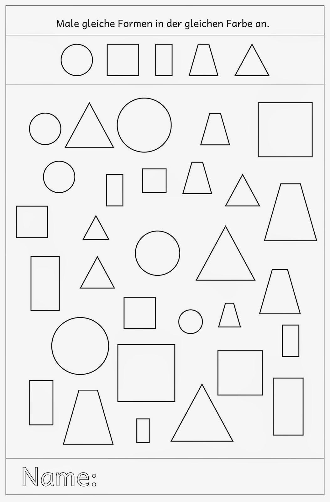 Ziemlich Farben Arbeitsblätter Für Den Kindergarten Galerie ...