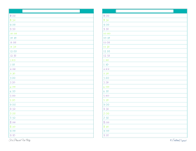 free printable, personal planner, agenda, half page