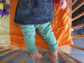 Legging geshowt op baby