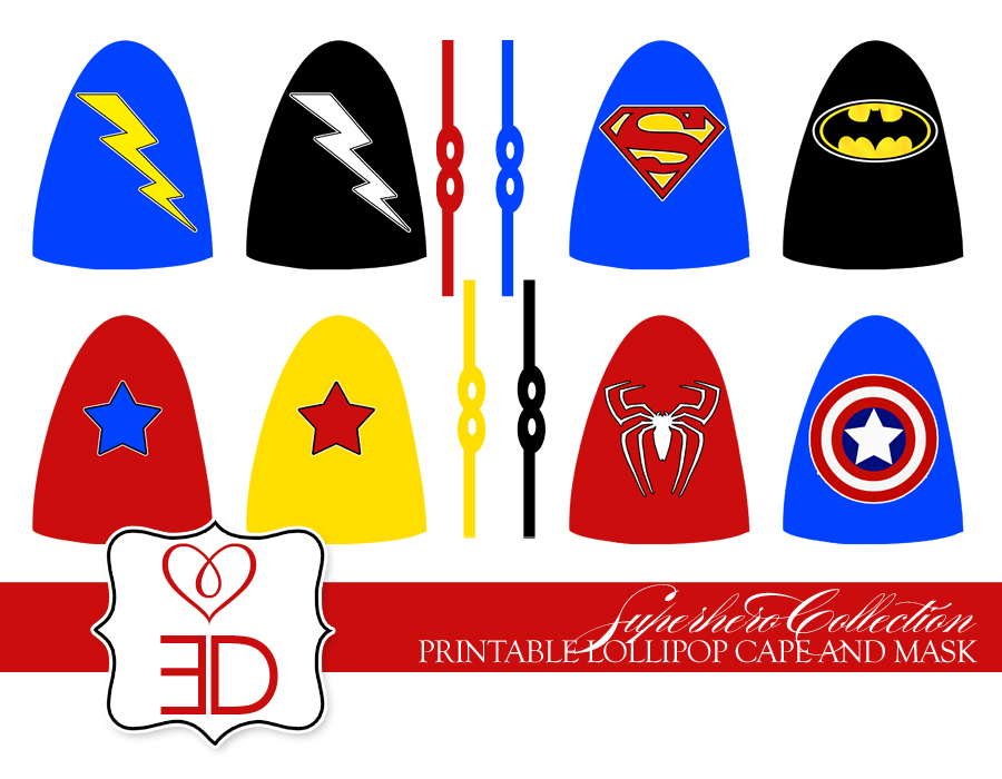 Eccentric designs by latisha horton new party for Superhero lollipop cape template
