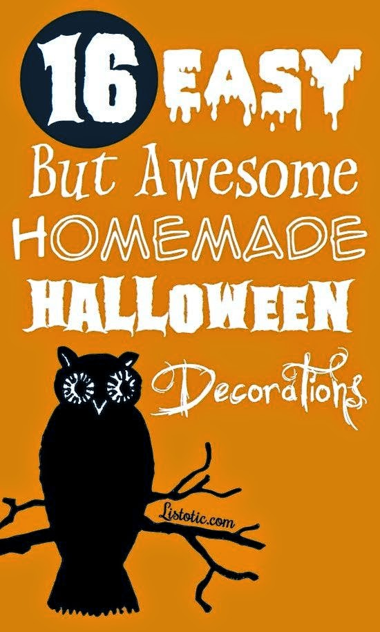 Fun recipe world 16 easy but awesome homemade halloween for How to make homemade halloween decorations