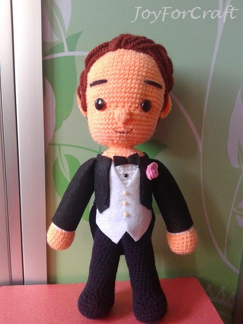 crochet amigurumi groom wedding dolls cute couple gift