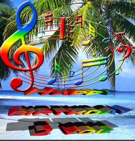 Musical rainbow for a birthday