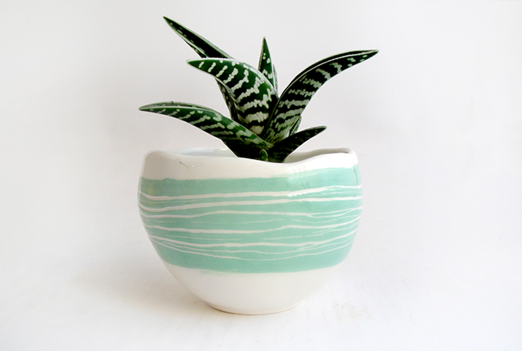 macetero cerámica barruntando