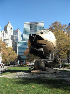 il monumento del World Trade Center oggi a Battery Park