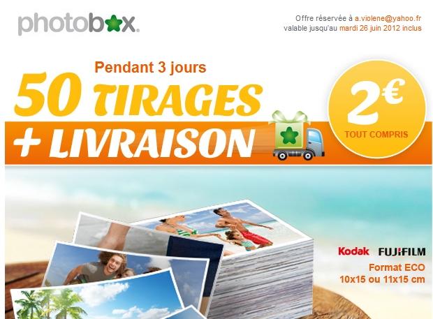 Vos 50 plus belles photos pour 2€, livraison incluse