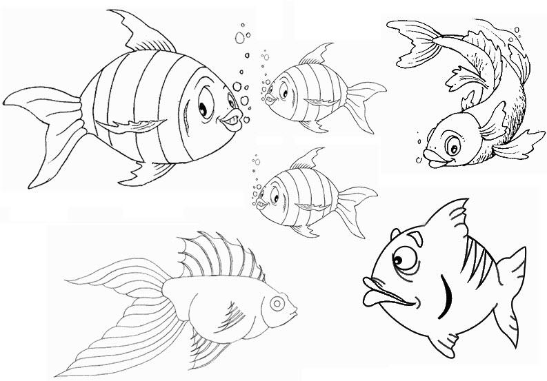 Ecole saint martin poissons d 39 avril - Coloriage mois d avril ...