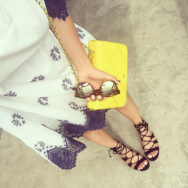 Chic wish dress, le specs sunglasses, tory burch bag, from where i stand, topshop lace up sandals, fashion blog, nyc