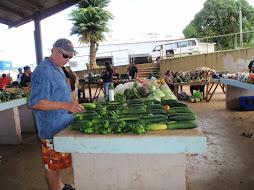 Peter picking his veggies