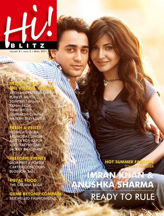 Anushka Sharma  - Imran Khan And Anushka Sharma On Hi Blitz Magazine Cover April 2011 Edition