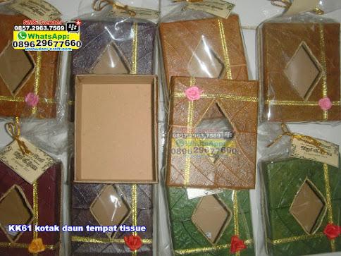 kotak daun tempat tissue jual