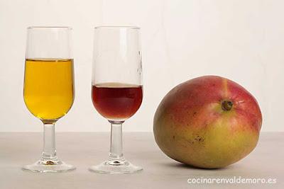 Ingredientes: mango, vinagre, aceite y sal