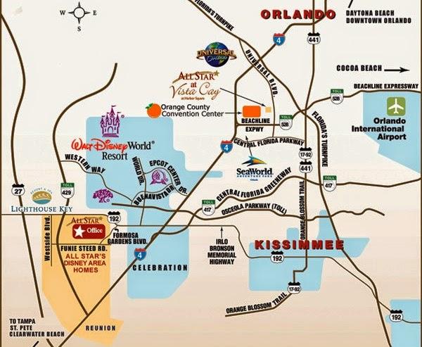 Mapa de Orlando Parques