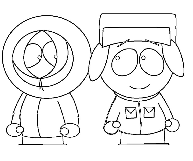 coloring pages of south park - photo#31