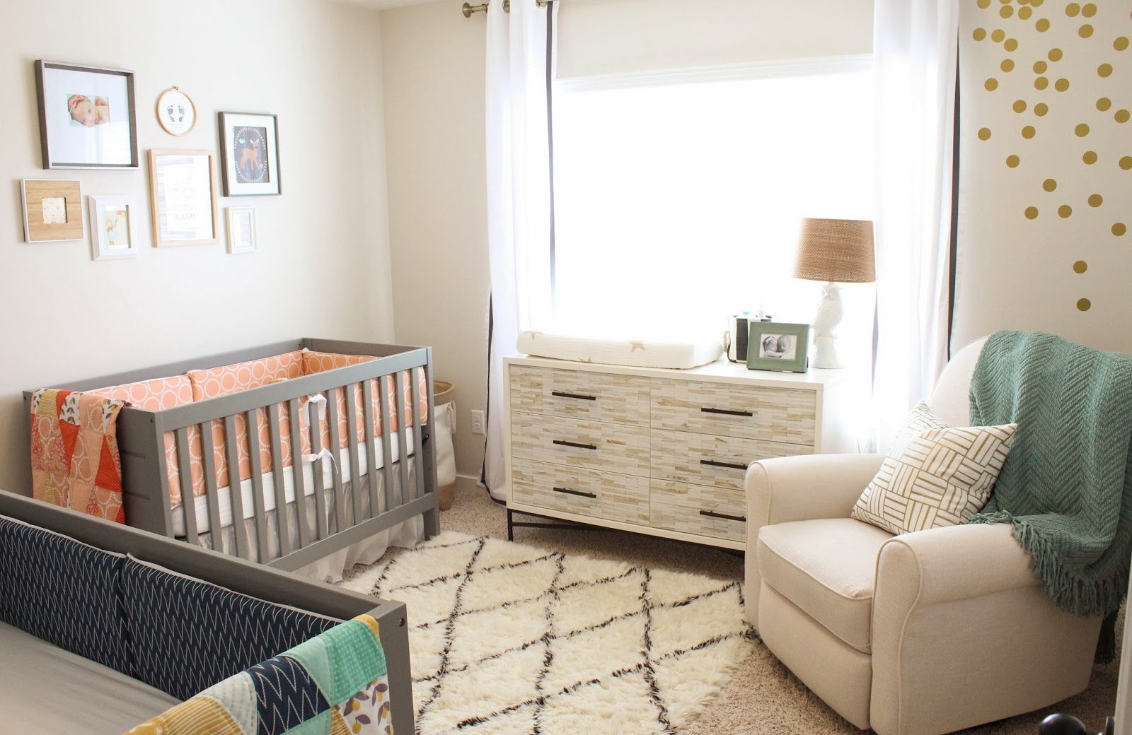 a gender neutral twin nursery