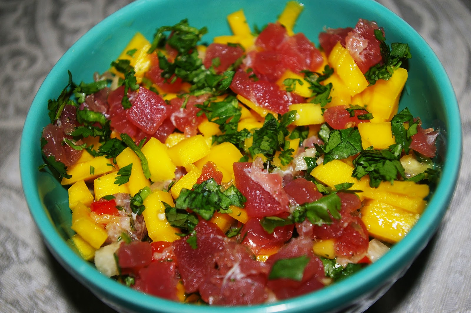 Caribbean Lifestyles: Tuna Ceviche with Mango and Plantain chips