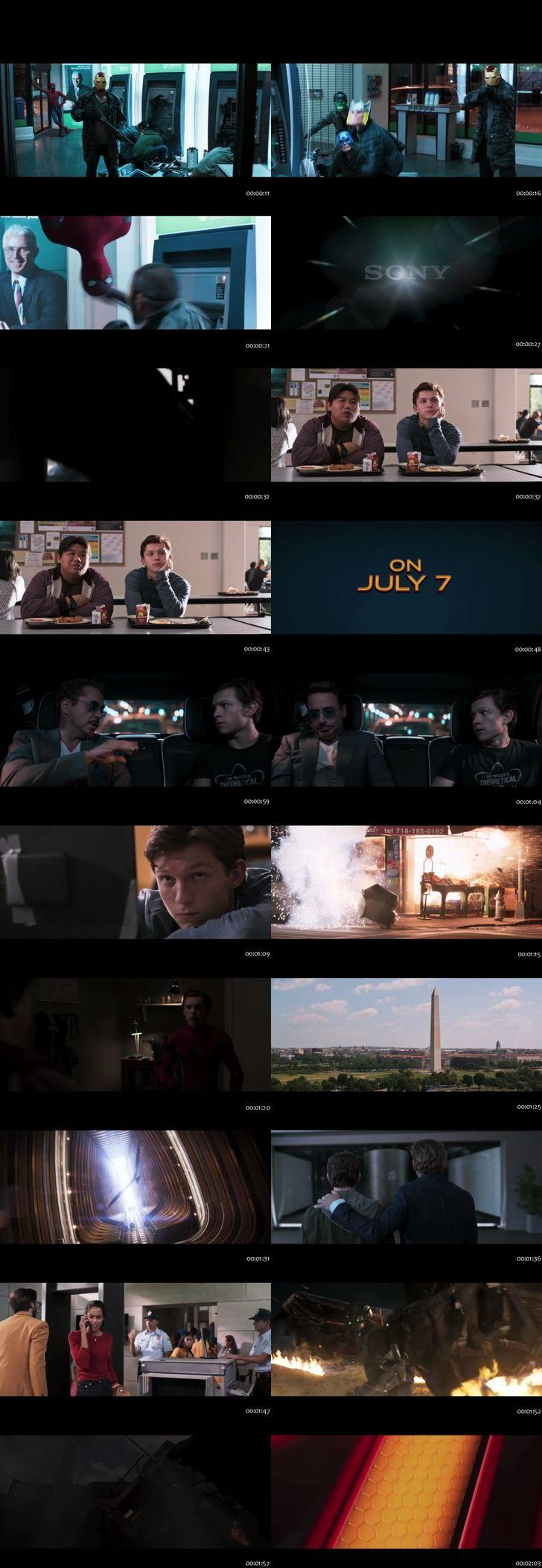 Screenshots Of Spider Man Homecoming 2017 Theatrical Official Trailer Free Download HD 720P