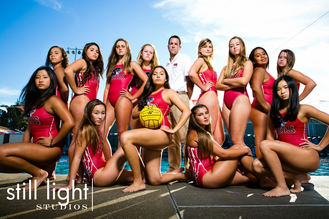 Burlingame Water Polo Team Photo by Still Light Studios, School Sports Photography and Senior Portraits in Bay Area, cinematic, nature